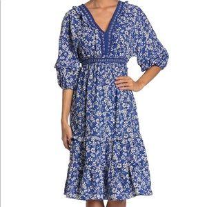 NWT Max Studio V-neck Empire Waist Dress Blubkdor